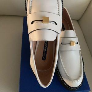 Stuart Weitzman Women's Penley Loafers in White